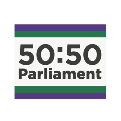 50:50 Parliament logo