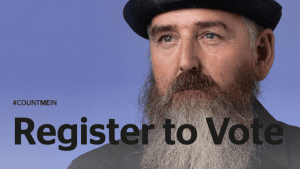 Poster to register to vote