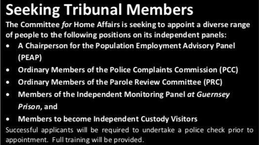 Advert for tribunal members