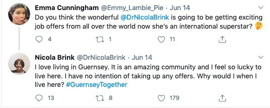 Tweet from Dr Nicola Brink: I have no interntion of taking up any offers.