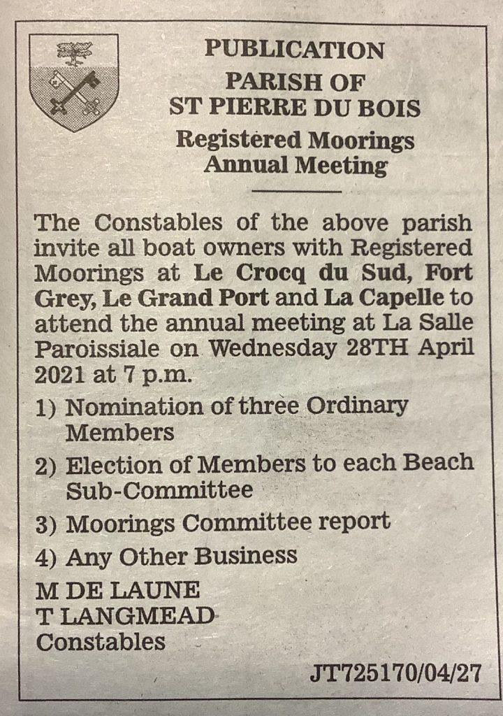 St Pierre de Bois Moorings notice