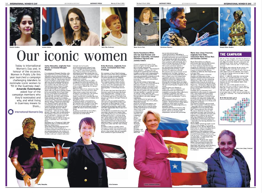 Screenshot of Guernsey Press feature article