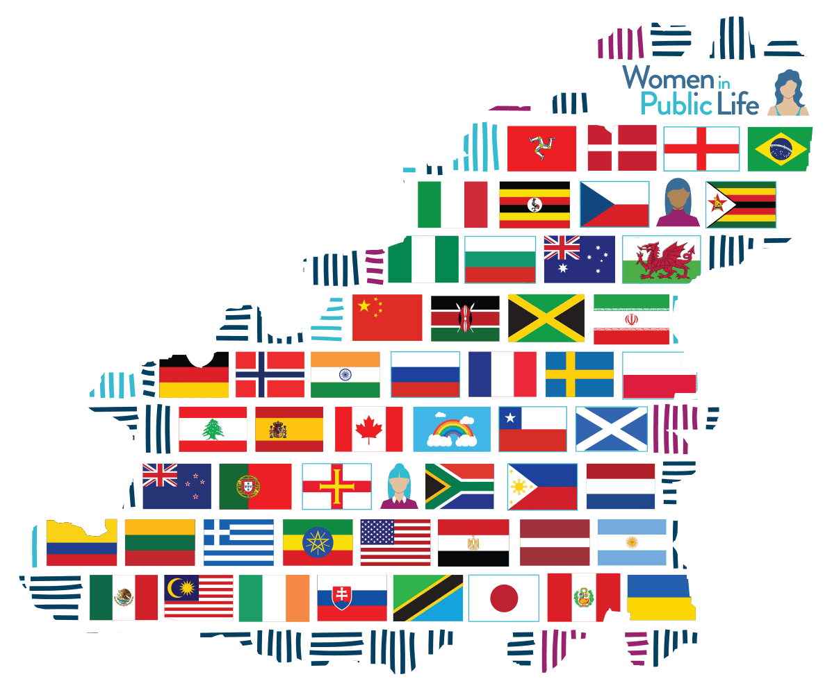 Clickable Guernsey map filled with international flags. Link below map to accessible version.