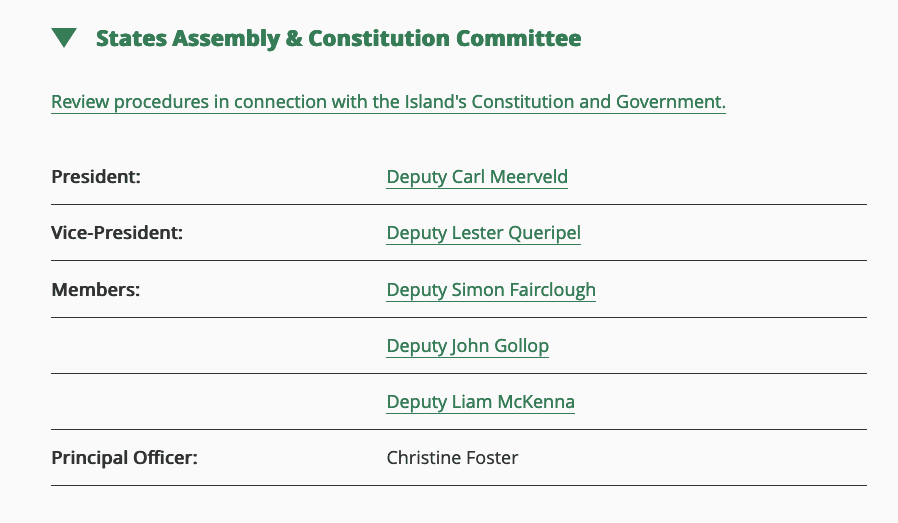 Members of SACC - Meerveld, Queripel, Gollop, Fairclough, McKenna
