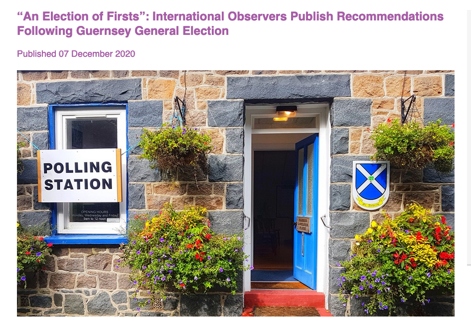 Cover page of election observers report - St Andrew's polling station