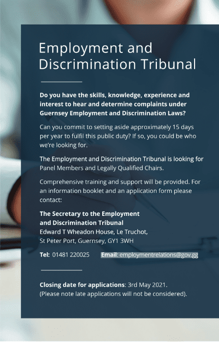 Copy of Employment and Discrimation Tribunal Press ad