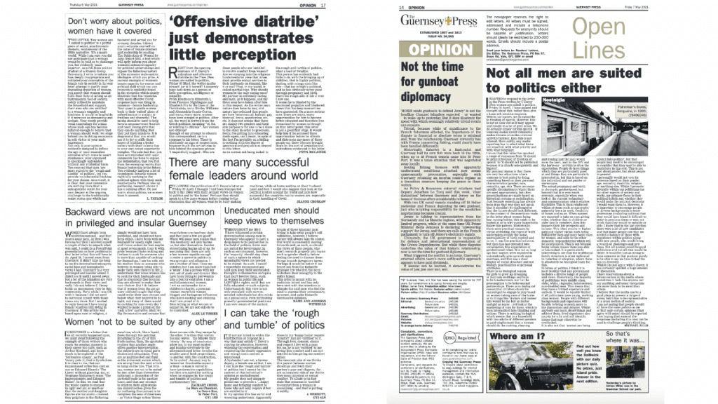 Guernsey Press letters pages