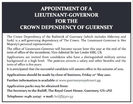 Press ad for Lieutenant-Governor
