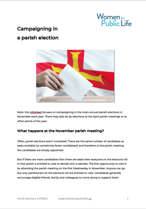 Pdf of Campaigning in a Parish Election
