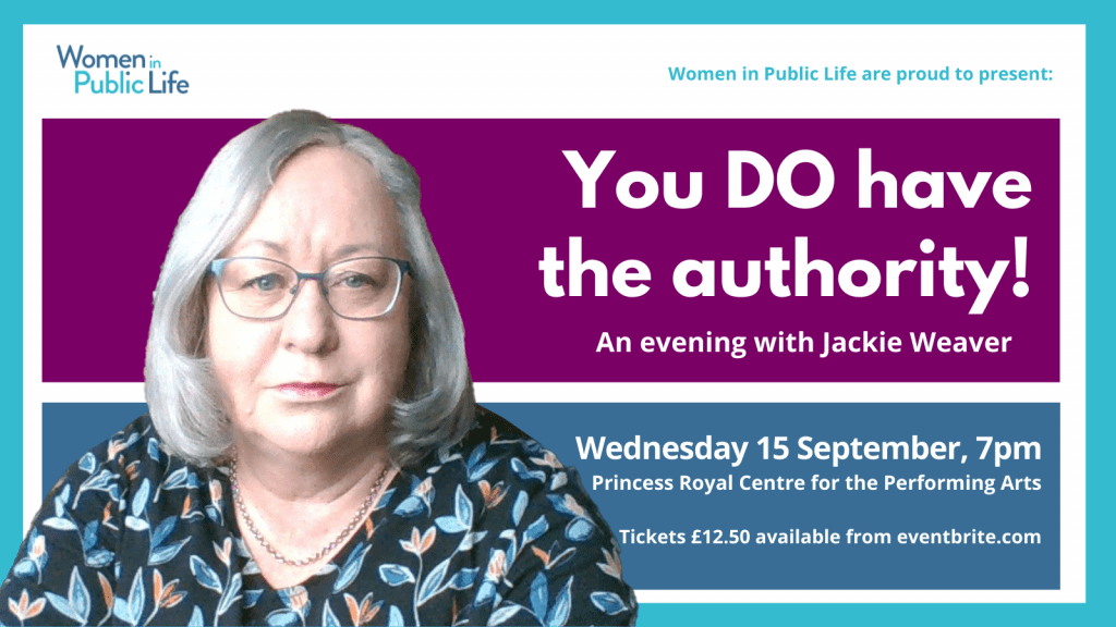 Jackie Weaver is coming to Guernsey!